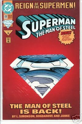 Superman Man Of Steel - 022 - DC Comics - June 1993