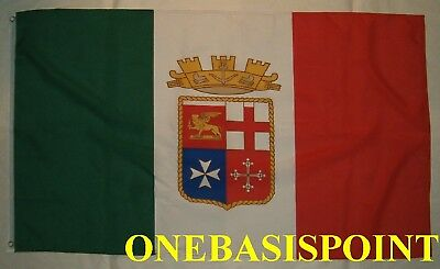 3'x5' ITALY ROYAL NAVY FLAG OUTDOOR INDOOR BANNER Naval Military History 3X5