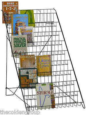 New 10 Tier Floor Retail Literature Book Display Rack