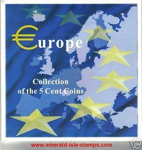 12 Country Display Folder of Euro 5 Cent Collection