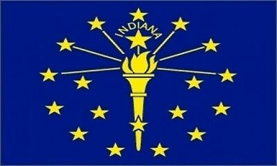 3'x5' Indiana State Flag USA Outdoor Indoor Banner Hoosier Pride Polyester 3x5