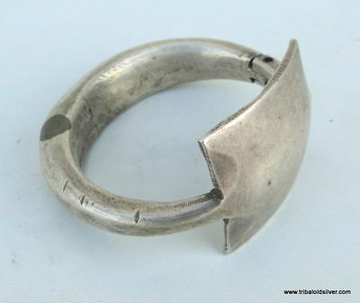 Vintage Antique Tribal Old Silver Bracelet Bangle India Bb Ecl