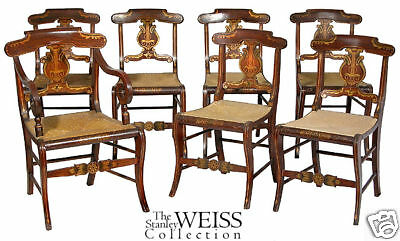 SWC-7 Rosewood Gilt Fancy Chairs, New York, c.1835