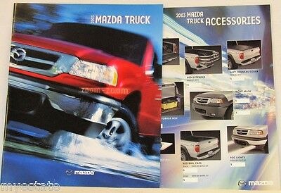 2003 03 Mazda Pickup original sales brochure + Accessories brochure MINT