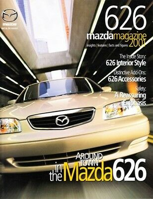 2001 01 Mazda 626  original sales brochure mint