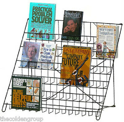 6 Tier Wire Counter Retail Literature Book Display Rack