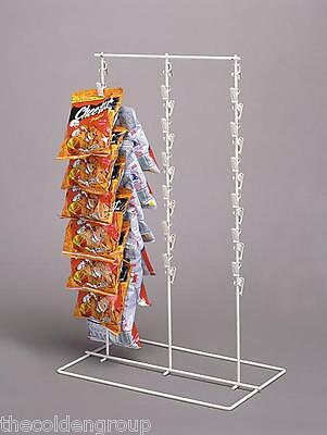 1 Triple 3 Row Wire Snack Chip Standing Clip Strip Rack