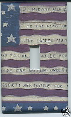 Americana Single Light Switch Plate Cover USA Old Glory