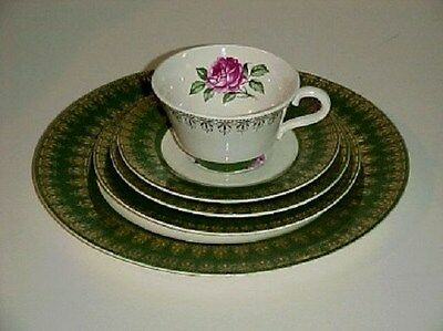 Limoges American Beauty Rose 5 Piece Place Setting