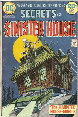 Secrets of Sinister House Comic Book #16 DC Comics 1974 VERY GOOD+