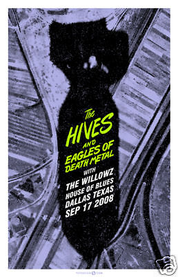 The Hives September 2008 Limited Concert Poster