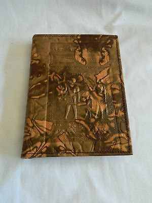 """Egyptian Genuine Camel Leather Phone Book & Notebook 6.75"""" X 5"""""""