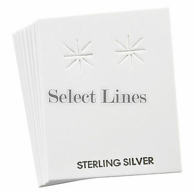 "100 Silver White Earring Jewelry Cards Display 2"" H"