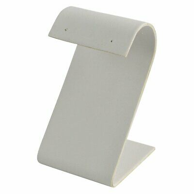 """White Faux Leather """"S"""" Earring Stand Jewelry Display !!"""