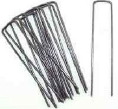 """100 Ground Cover/Lanscape Fabric Stakes 6"""" Anchor Pins Sod Staples"""
