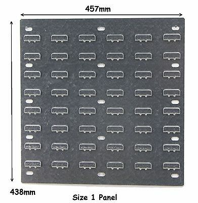 NEW Steel Louvre Wall Panel For Plastic Parts Storage Bins 438 x 457mm Free P&P