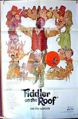 Original 1972 Fiddler on the Roof One-Sheet Movie Poster-Topol-Folded (MHPO-071)