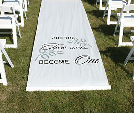 And Two Shall Become One Wedding Aisle Runner NEW 100ft