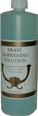 ANTIQUE METAL BRASS DARKENING SOLUTION  32oz  J3499