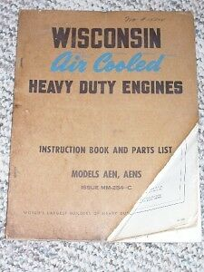 Wisconsin Engine Instruction/Parts Manual AEN AENS