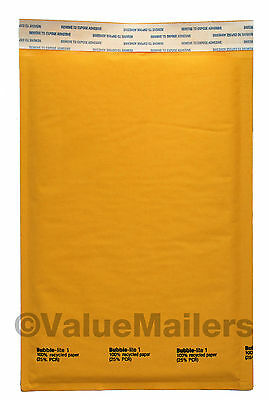 "500 #1 7.25""x12"" KRAFT BUBBLE MAILERS PADDED ENVELOPES"