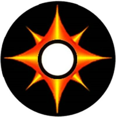 Pinewood Derby Car Wheel Decal Flame Points