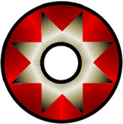 Pinewood Derby Car Wheel Decal Red Metallic
