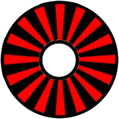 Pinewood Derby Car Wheel Decal Red Starburst
