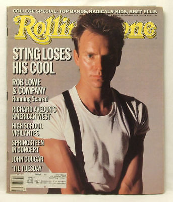 Sting Cover ROLLING STONE MAGAZINE Issue 457 September  26 1985 Til Tuesday FP