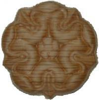 "OAK Embossed Wood Ornament 1 1/4"" Rosette   W35791"