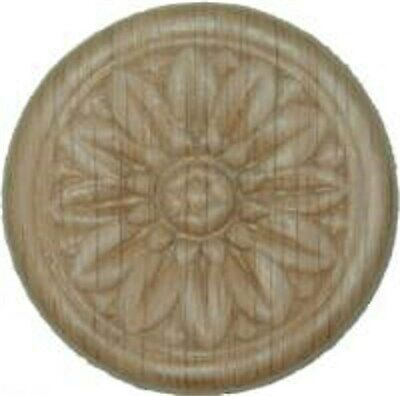 "OAK Embossed Wood Ornament 2"" Rosette   W35794"