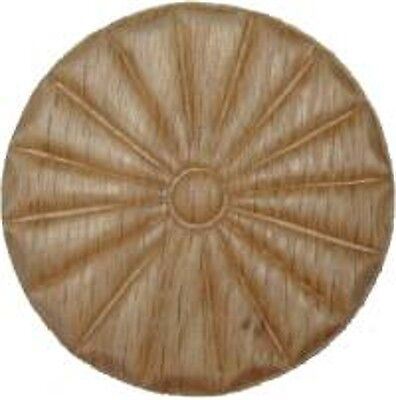 "OAK Embossed Wood Ornament 2 13/16"" Rosette   W35797"