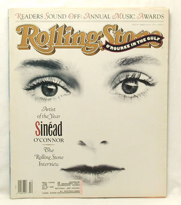 ROLLING STONE Issue 599 Sinead O'Connor Annual Music Awards March 7 1991 RARE MQ
