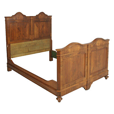 Antique double bed in solid walnut LETTO MATRIMONIALE NOCE NEOCLASSICO - MA N08