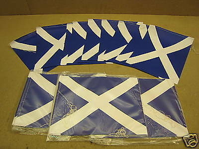 4 x 4 Metre 10 Flag Bunting SCOTLAND Scottish St Andrew - FREE Delivery