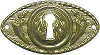 Victorian Style Stamped Brass Key Hole Cover B0116