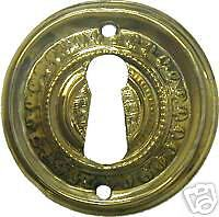 Victorian Style Stamped Brass Key Hole Cover B0106