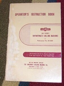 Cincinnati 200 Series Milling Machines Operator Manual