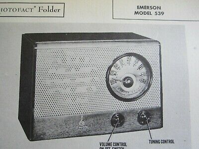 Emerson 539 Radio Photofact