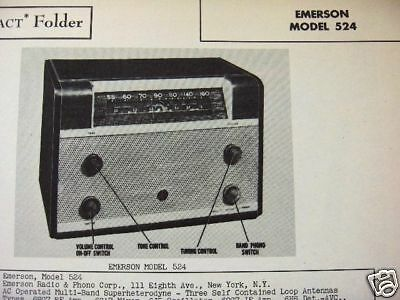 Emerson 524 Radio Photofact