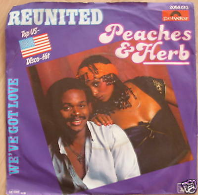 """7"""" 70s US-GOLD! PEACHES & HERB : Reunited // MINT- \"""