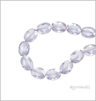 Cubic Zirconia Flat Oval 6x8 8pc Lavender #64016