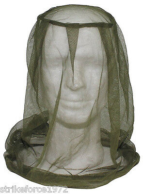 NEW - Genuine Army Military Issue Green Mosquito Mosi Insect Head Net