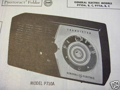 GENERAL ELECTRIC P710A,P711A TRANSISTOR RADIO PHOTOFACT