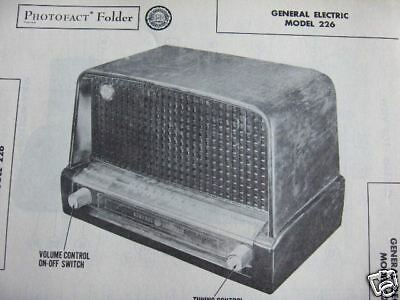 General Electric 226 Radio Photofact