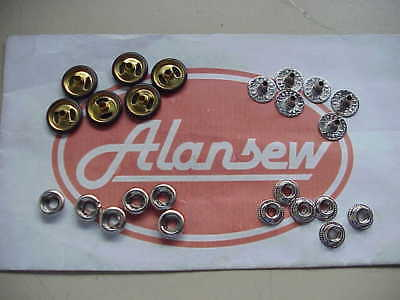 50 COMPLETE SETS OF BRITISH MADE 18mm PRESS FASTENERS