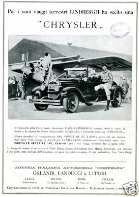 CHRYSLER-Spirit of St.Louis-C.LINDBERGH-Imperial-1927