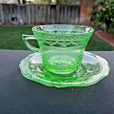 Green Patrician Spoke Cup & Saucer