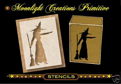 Halloween Wicca Stencil ~  Witch Casting A Spell