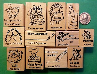 Teacher's German/English Rubber Stamp Assortment